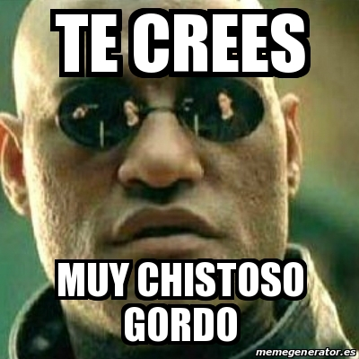 Meme What If I Told You Te Crees Muy Chistoso Gordo 28057320