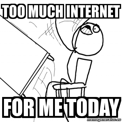 Image result for too much internet meme