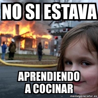 Meme Disaster Girl No Si Estava Aprendiendo A Cocinar 128364