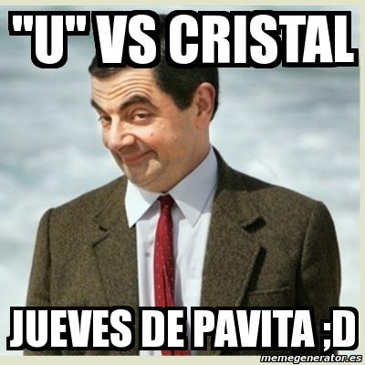 \u0026quot;U\u0026quot; VS CRISTAL JUEVES DE PAVITA ;d
