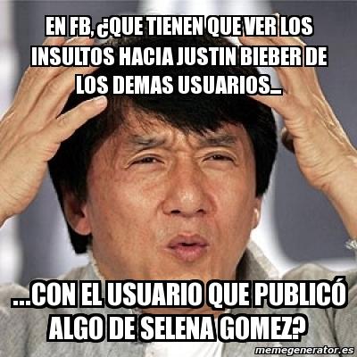 Jackie Chan - en fb, ¿que tienen que ver los insultos hacia justin ...