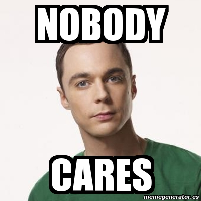 Nobody Cares Meme Joker Meme Sheldon Cooper - ...