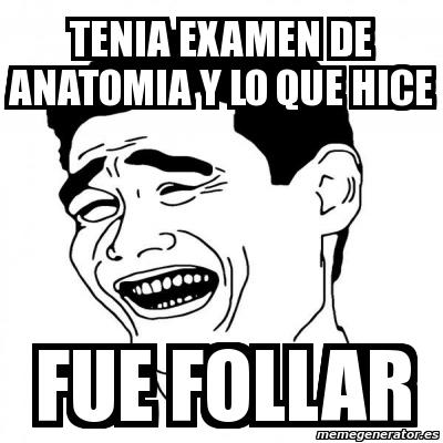 Meme Yao Ming 2 - tenia examen de anatomia y lo que hice fue follar ...