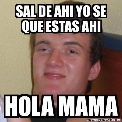 hola se que estas: