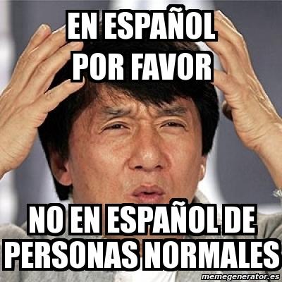 por no español