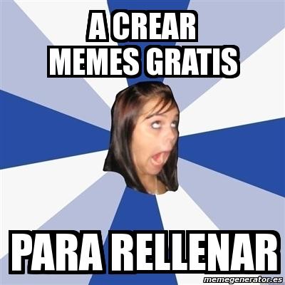 Meme Annoying Facebook Girl a crear memes gratis para