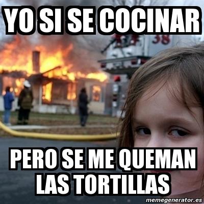 Meme Disaster Girl Yo Si Se Cocinar Pero Se Me Queman Las