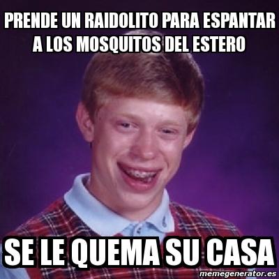 Meme bad luck brian prende un raidolito para espantar a - Como ahuyentar a los mosquitos ...