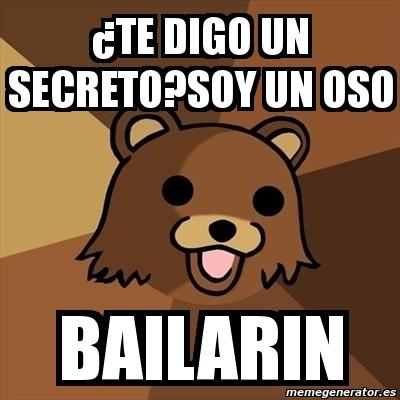oso bailarín qué