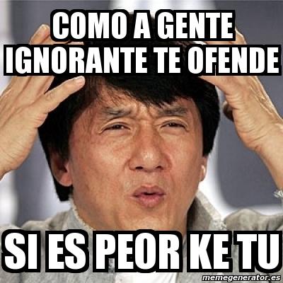 Meme Jackie Chan - com...