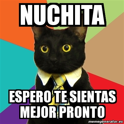 Meme Business Cat Nuchita Espero Te Sientas Mejor Pronto 15067733