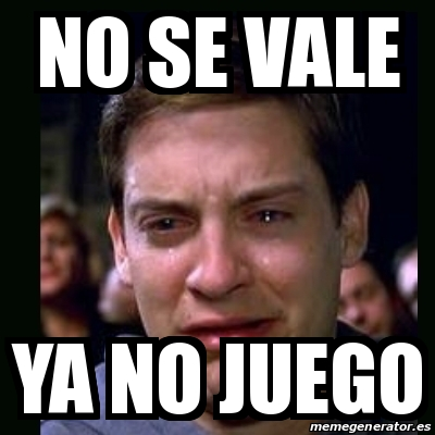 Meme crying peter parker - No se vale ya no juego - 16469097 Tobey Maguire