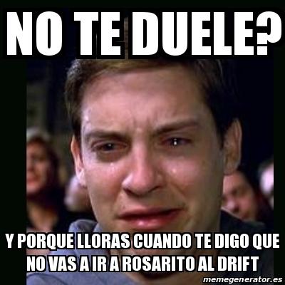 Meme crying peter parker no te duele y porque lloras for Vas al