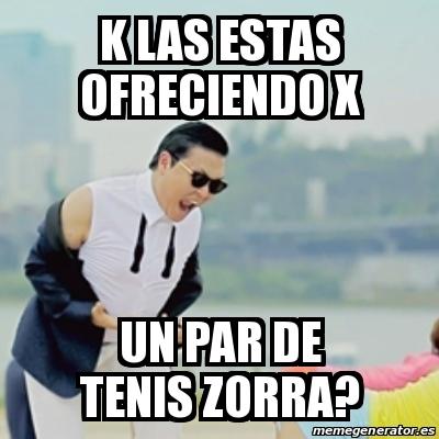 Un Par De Tenis Meme Gangnam St...