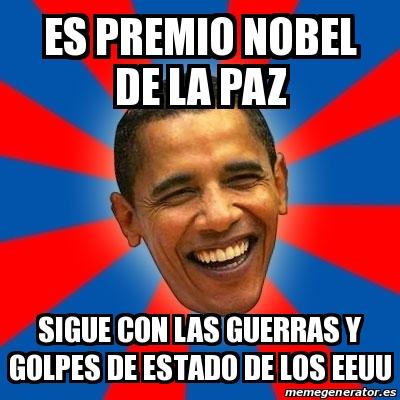 Obama premio nobel meme