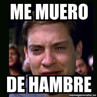 Meme crying peter parker - ME MUERO DE HAMBRE - 18648958 Tobey Maguire