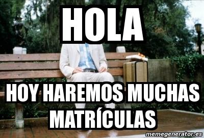Meme personalizado hola hoy haremos muchas matr culas - Matricula coche hoy ...
