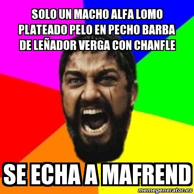 Meme Sparta - solo un macho alfa lomo plateado pelo en pecho barba ...