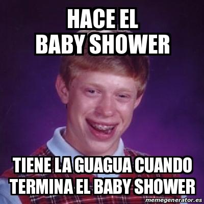 hace el baby shower tiene la guagua cuando termina el baby shower