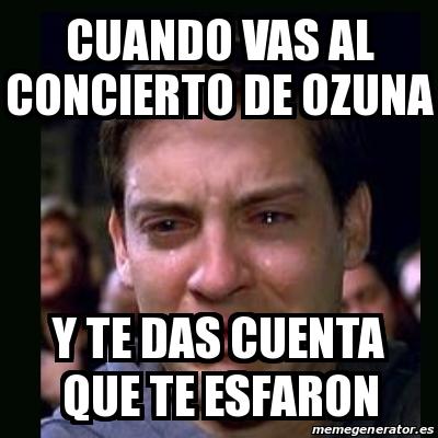 Meme crying peter parker cuando vas al concierto de for Vas al