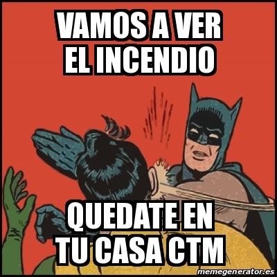 Meme Batman Slaps Robin Vamos A Ver El Incendio Quedate En Tu Casa Ctm 24565259