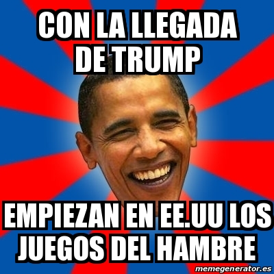 Meme Obama Con La Llegada De Trump Empiezan En Ee Uu Los Juegos