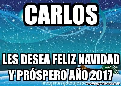 ... - Carlos Les desea feliz Navidad y próspero año 2017 - 24775292