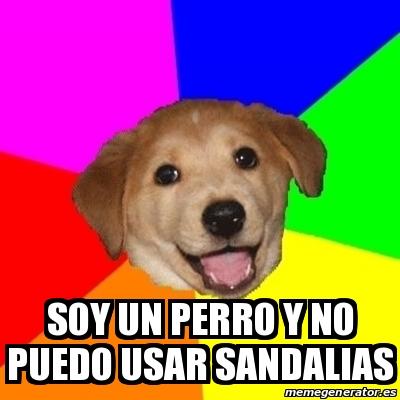 Perro Usar Meme 26766577 Un No Y Dog Sandalias Advice Soy Puedo eBCEQdxroW