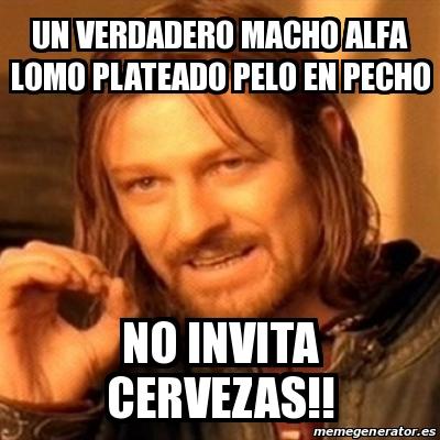 Meme Boromir - un verdadero macho alfa lomo plateado pelo en pecho ...