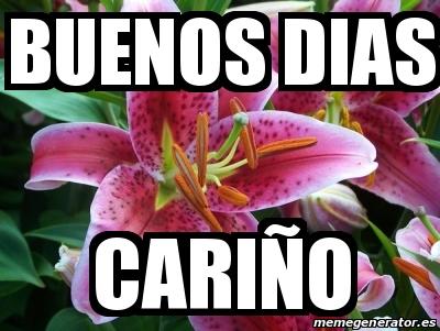Meme Personalizado Buenos Dias Cariño 28692321