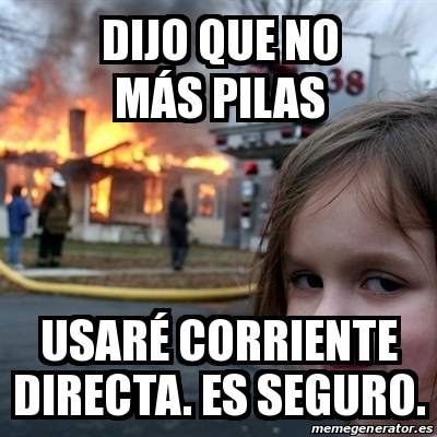 Meme disaster girl dijo que no m s pilas usar corriente for No mas 900 oficina directa
