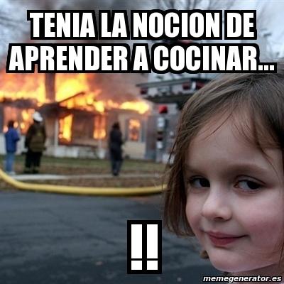 Meme Disaster Girl Tenia La Nocion De Aprender A Cocinar