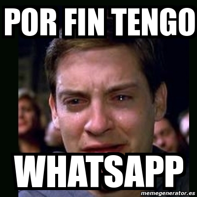 Meme crying peter parker - Por fin tengo whatsapp - 3669589 Tobey Maguire