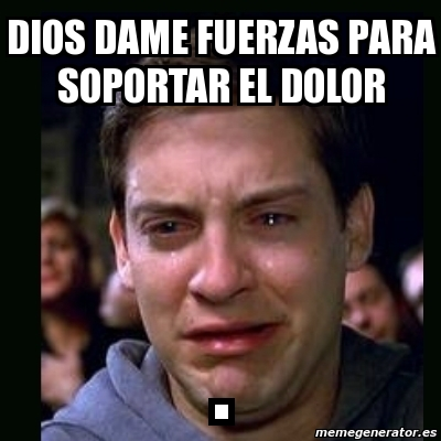 Meme crying peter park... Tobey Maguire