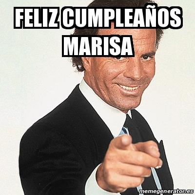 Feliz Cumpleanos Marisa.Meme Julio Iglesias Feliz Cumpleanos Marisa 30506601