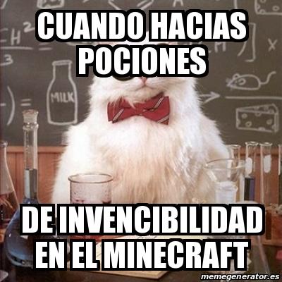 Meme Chemistry Cat - Cuando hacias pociones De