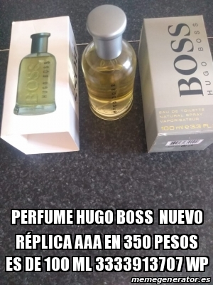 Meme Personalizado Perfume Hugo Boss nuevo réplica AAA