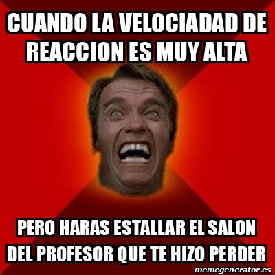 Meme Arnold cuando la velociadad de reaccion es muy alta