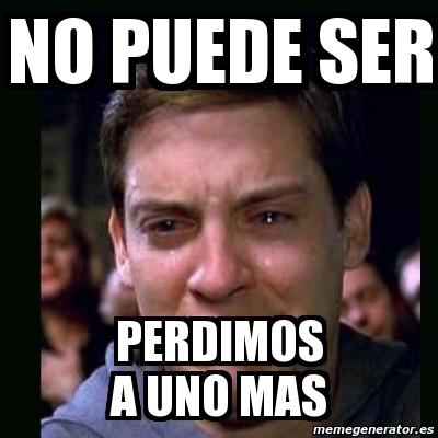 Meme Crying Peter Parker No Puede Ser Perdimos A Uno Mas 5273125