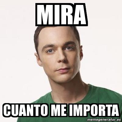 Meme Sheldon Cooper - ...