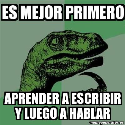 Imagina un dinosaurio hablando en español