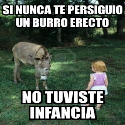 burro en erección