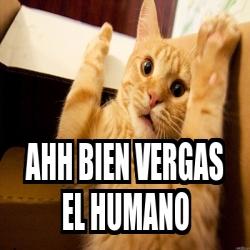 Meme Personalizado - ahh bien vergas el humano - 16647164