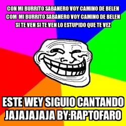 Meme troll con mi burrito sabanero voy camino de belen for Affitti cabina michigan con camino
