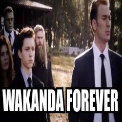 Meme Personalizado - Wakanda forever - 31889334