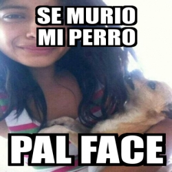 Meme Personalizado se murio mi perro pal face 4174699